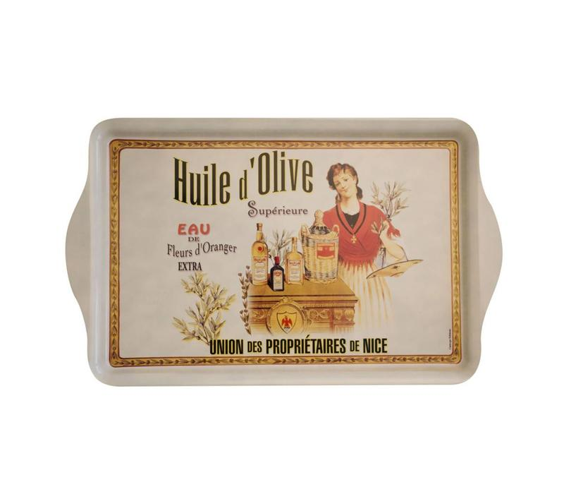 "French Classics Serving Tray Metal 20x33 cm ""Huile d'olive"""