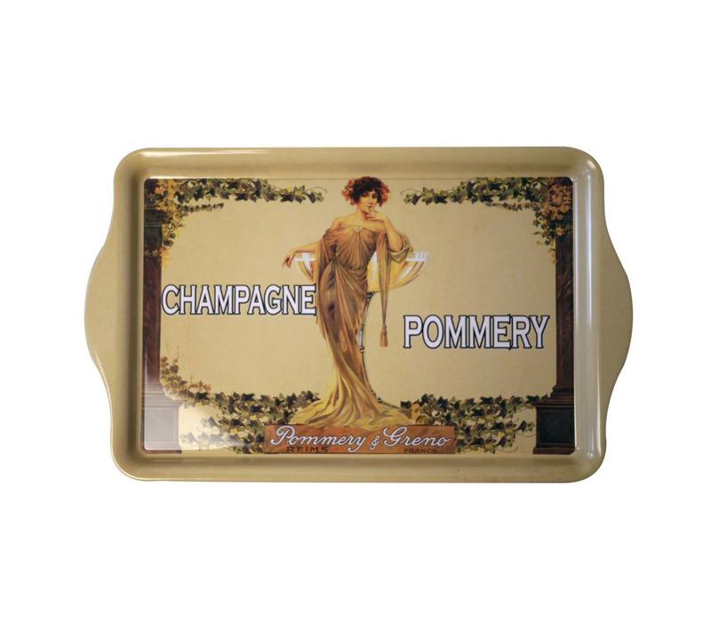 "French Classics Serving Tray Metal 20x33 cm ""Champagne Pommery"""
