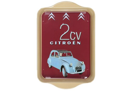 French Classics Mini Dienblad 2 CV Citroën 14x21 cm Metaal