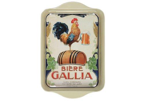 French Classics Miniserviertablett 21x14 cm Gallia Metall
