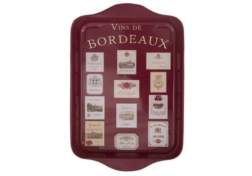 French Classics Miniserviertablett 21x14 cm Vins de Bordeaux Metall
