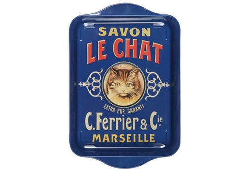 French Classics Small Tray 21x14cm Savon Chat