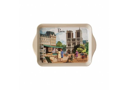 "French Classics French Classics Small Serving Tray Metal 14x21 cm ""Paris"""