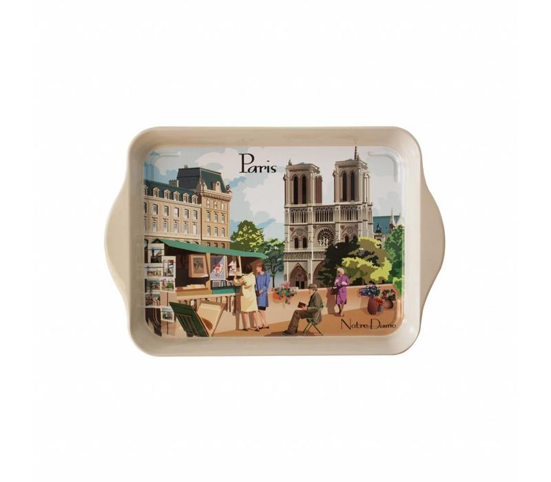 "French Classics Small Serving Tray Metal 14x21 cm ""Paris"""
