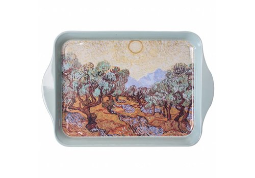 French Classics Miniserviertablett Van Gogh Olivenbäume 14x21cm Metall
