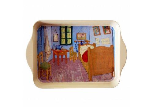 French Classics Mini Dienblad van Gogh Chambre 14x21 cm Metaal