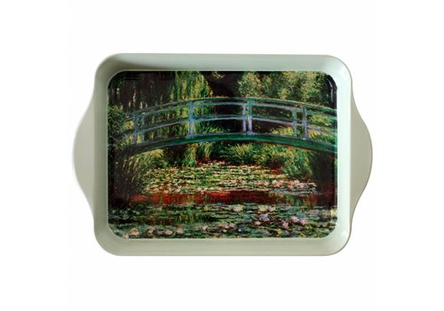 French Classics Mini Dienblad Monet Pont 14x21 cm Metaal