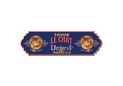 French Classics Towel Hanger Metal 3 Hooks 22x6,5 cm Savon Le Chat