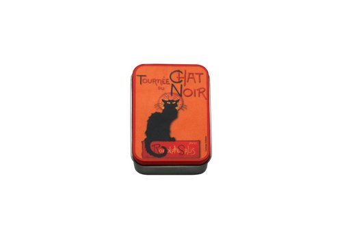 French Classics Small Metal Box 9,5x6xH2,7 cm Chat Noir