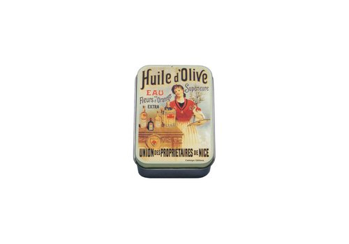 French Classics Small Metal Box 9,5x6xH2,7 cm Huile d'olive