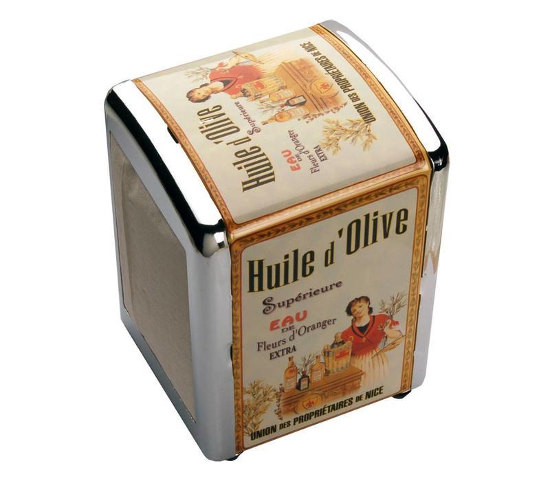 Servettenhouder Metaal Huile d'olive