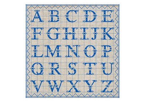French Classics ABC Blue Package 20 Napkins