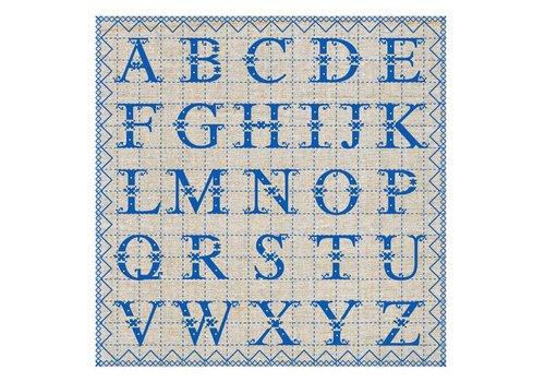 French Classics Päckchen mit 20 Servietten ABC Blau