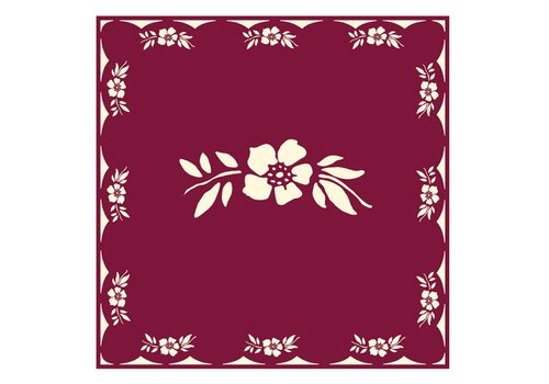 French Classics Flower Red Package 20 Napkins