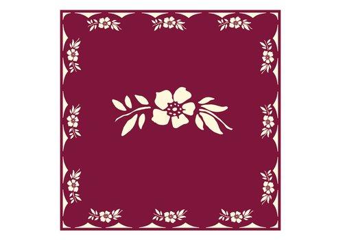 French Classics Päckchen mit 20 Servietten Blume Rot