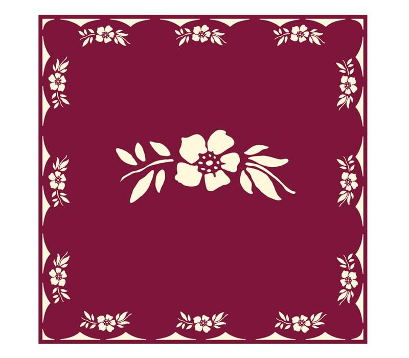 Flower Red Package 20 Napkins