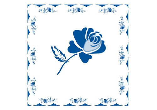 French Classics Roos Blauw Pakje 20 Servetten