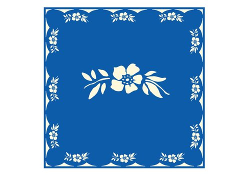 French Classics Flower Blue Package 20 Napkins