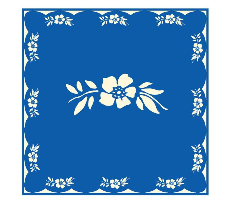Flower Blue Package 20 Napkins