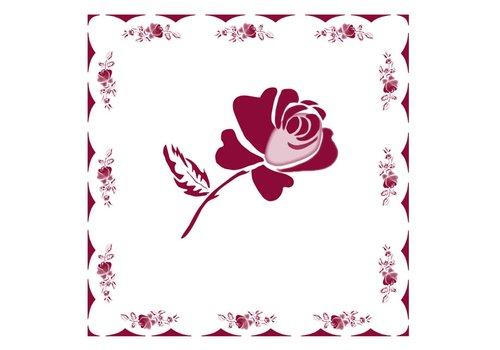 French Classics Päckchen mit 20 Servietten Rose Rot