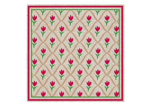 French Classics Tulip Red Package 20 Napkins