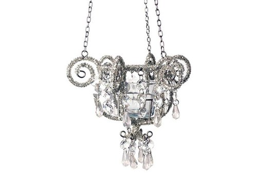 French Classics Chandelier Crown Silver 17x16cm