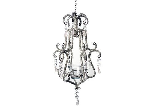 French Classics Chandelier Baroque Silver 16x35cm
