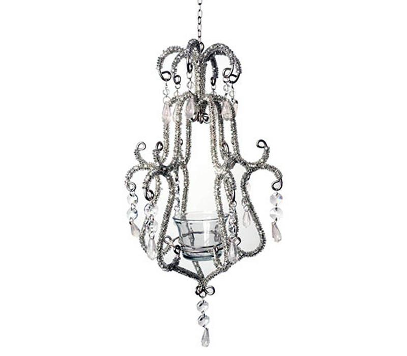 Chandelier Baroque Silver 16x35cm