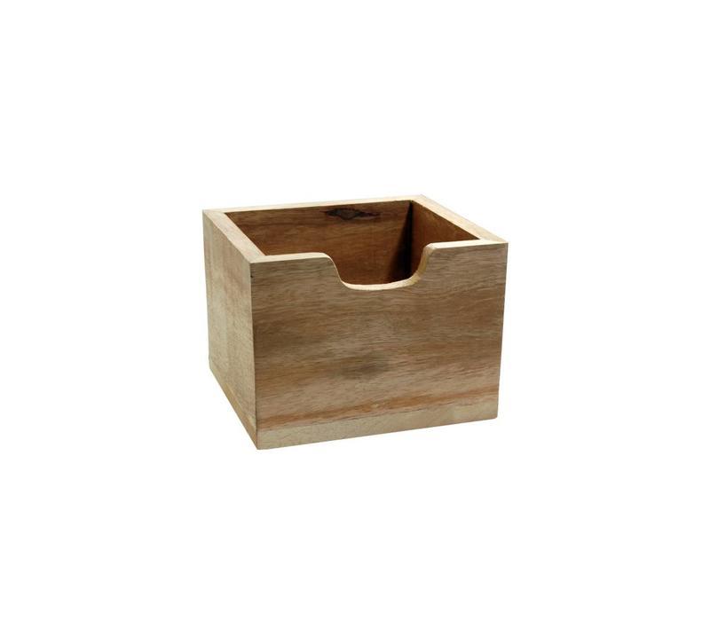 Cutlery Box Wood High