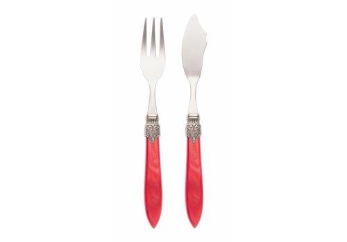 Murano Fish Cutlery Set (2-piece) Murano, Red