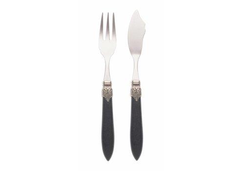 Murano Fish Cutlery Set (2-piece) Murano Matt Black