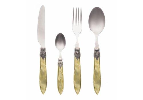 Murano Murano 4 Piece Cutlery Set Olive Green