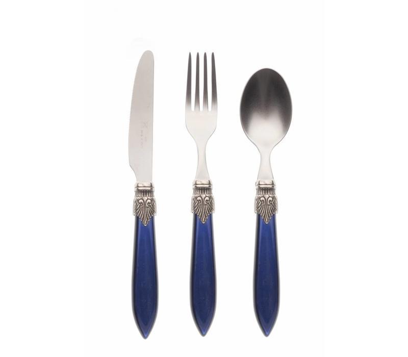 Breakfast Cutlery Set (3-piece) Murano, Blue