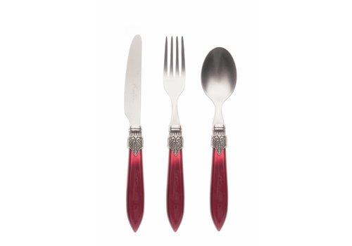 Murano Breakfast Cutlery Set (3-piece) Murano Burgundy