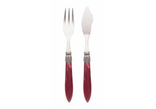 Murano Fish Cutlery Set (2-piece) Murano Burgundy