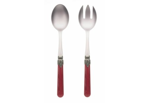 Vintage Salad Server Set (2-piece) Vintage, Red