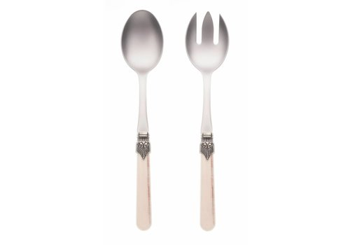Vintage Salad Server Set (2-piece) Vintage, Sand