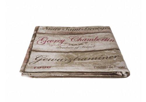 """Kom Amsterdam Kom Amsterdam Table Cloth """"Vins"""" 155x250 cm, Brown"""