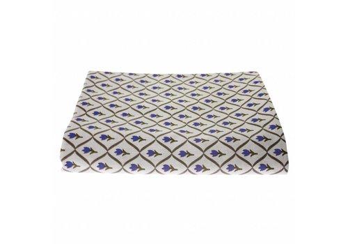 """Kom Amsterdam Kom Amsterdam Table Cloth """"Tulip"""" 150x250 cm, Blue"""