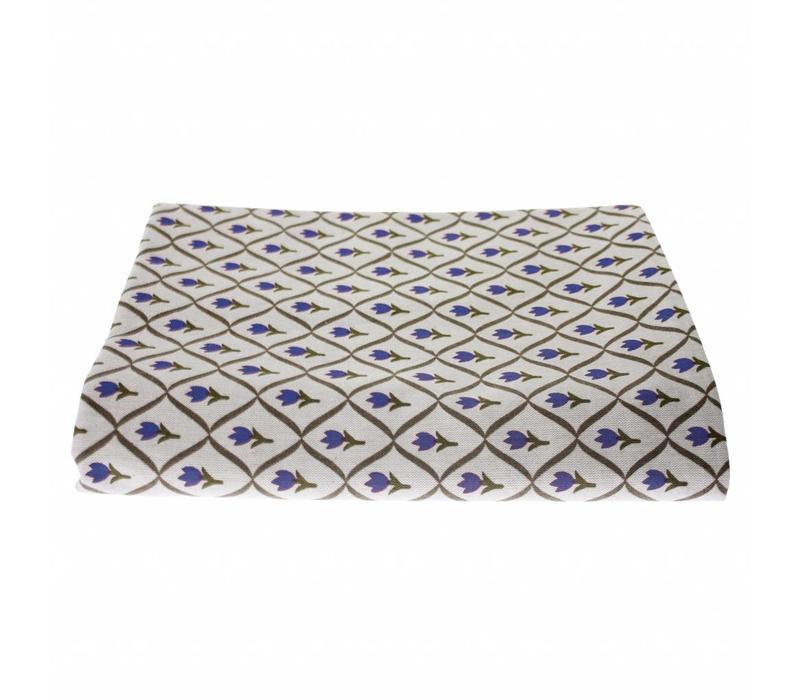 "Kom Amsterdam Table Cloth ""Tulip"" 150x250 cm, Blue"