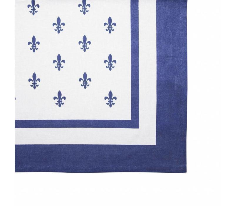 "Kom Amsterdam Tablecloth ""Fleur de Lys"" 150x250 cm, Blue"