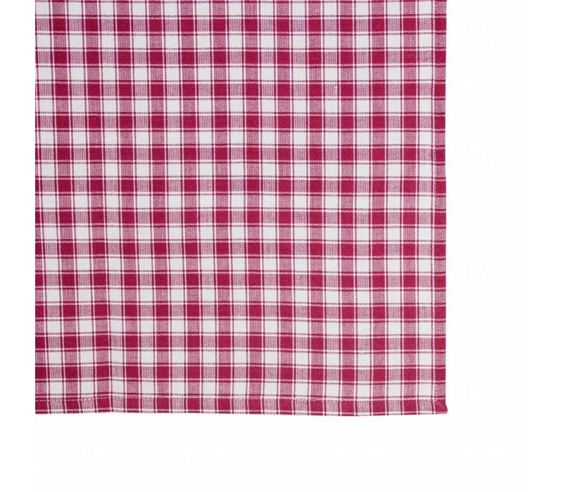 "Kom Amsterdam Tablecloth ""Check"" 150x250 cm, Red"