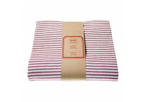 "Kom Amsterdam Kom Amsterdam Tablecloth ""Stripe"" 150x250 cm, Red"
