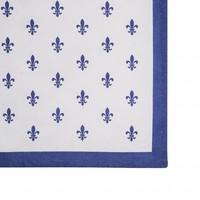 "Kom Amsterdam Tablerunner ""Fleur de Lys"" 45x150 cm, Blue"
