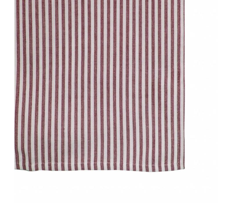 "Kom Amsterdam Table Runner ""Stripe"" 45x150 cm, Red"