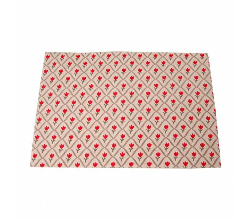 Placemat 33x47 cm Tulip, Red