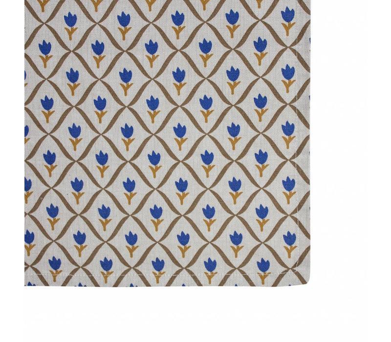 Campagne Dish Towels 50x70 cm Tulip, Blue