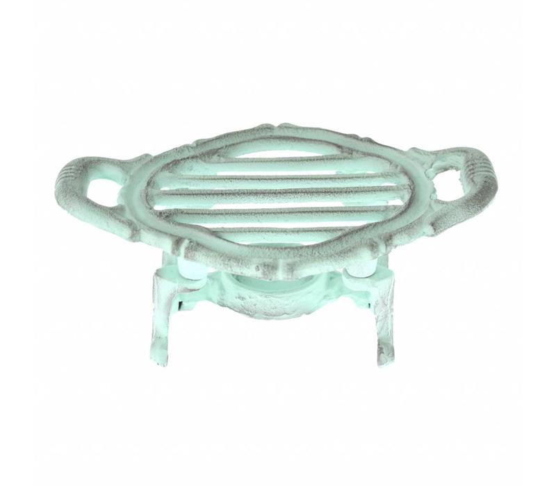 French Kitchen Collection Food Warmer Oval 19x12xH8 cm Antique Green