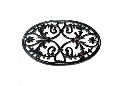 French Kitchen Collection French Kitchen Collection Large Oval Trivet 32x20 cm Cast Iron, Antic Finish