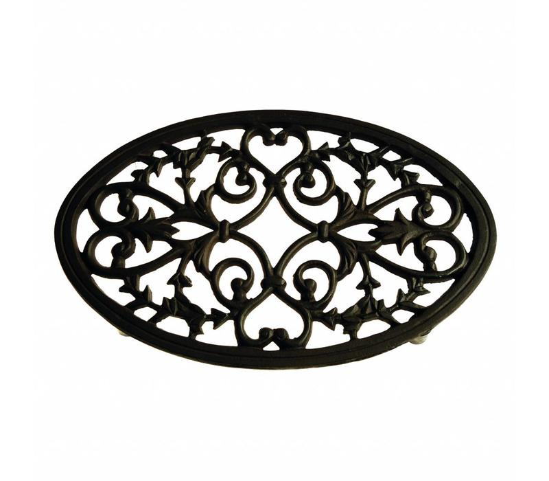 French Kitchen Collection Trivet Oval Large 31x20xH2 cm Black/Brown